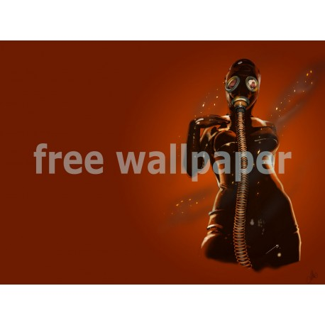 Gasmask-Fire wallpaper