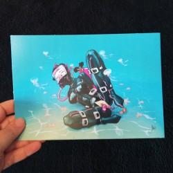 Ilustración Diving Rubber, A5