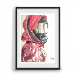 Watercolor Red Rubber -...