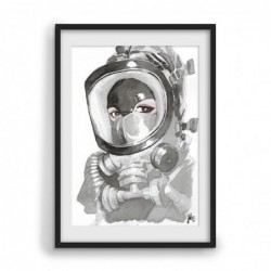Watercolor Fireman Mask -...