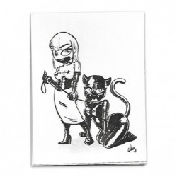 Ilustración original acuarela y tinta, Rubberman 02